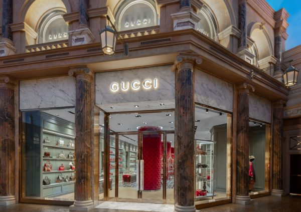 Gucci store at Las Vegas Forum, USA © Courtesy of Gucci